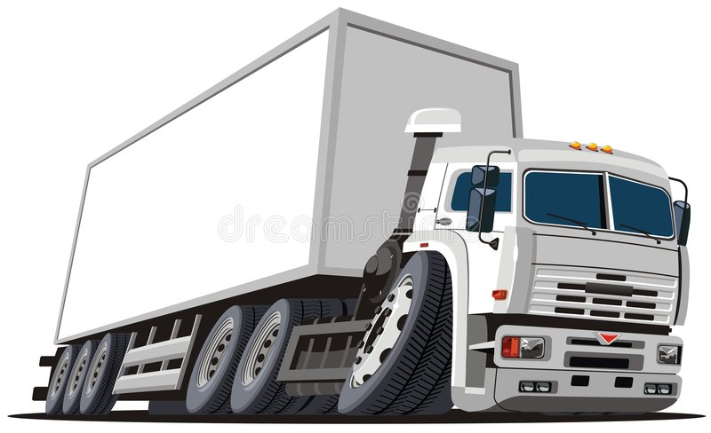Download Vector Cartoon Delivery / Cargo Truck Stock Vector - Image: 7726118