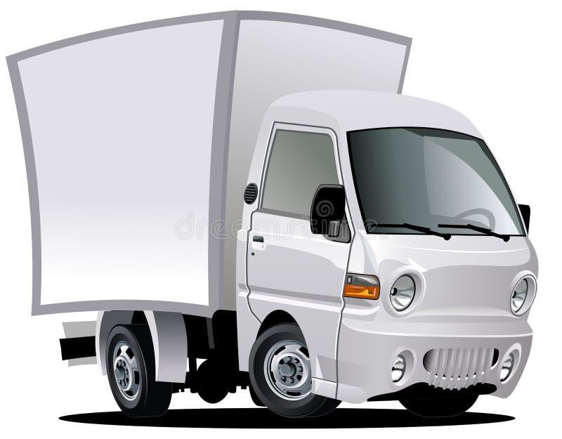 Vector cartoon delivery / cargo van stock illustration