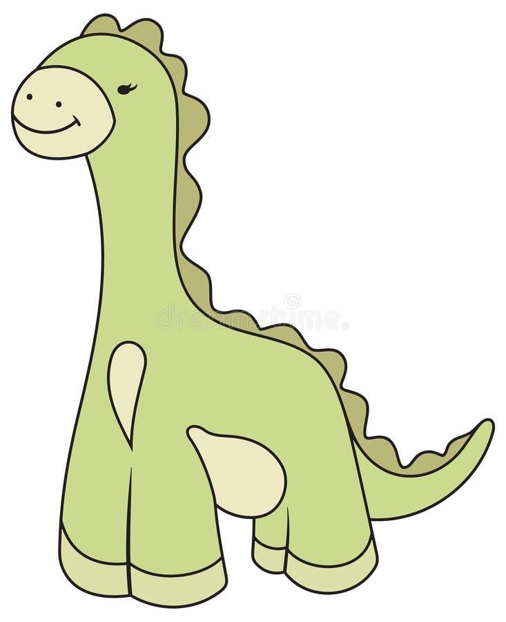 Vector Cartoon Dinosaur Illustration stock photos