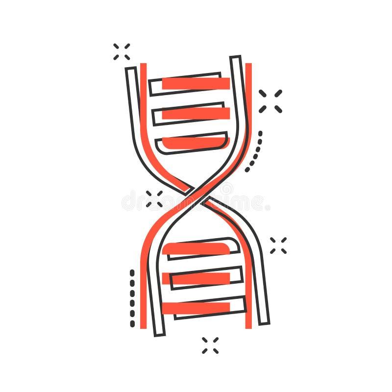 Vector cartoon dna icon in comic style. Medecine molecule sign i vector illustration