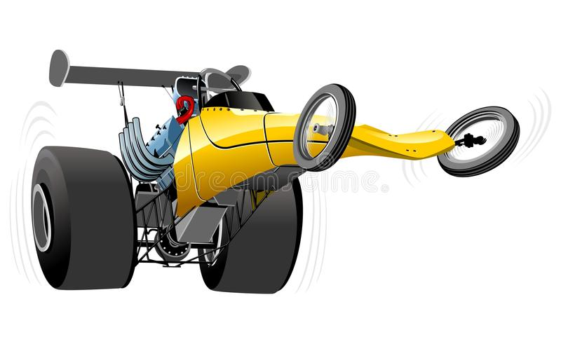 Vector cartoon dragster vector illustration