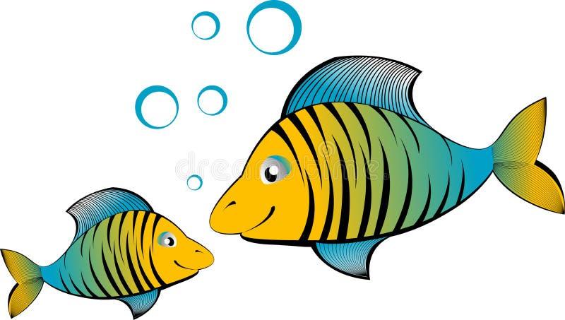 Vector cartoon fish stock illustration