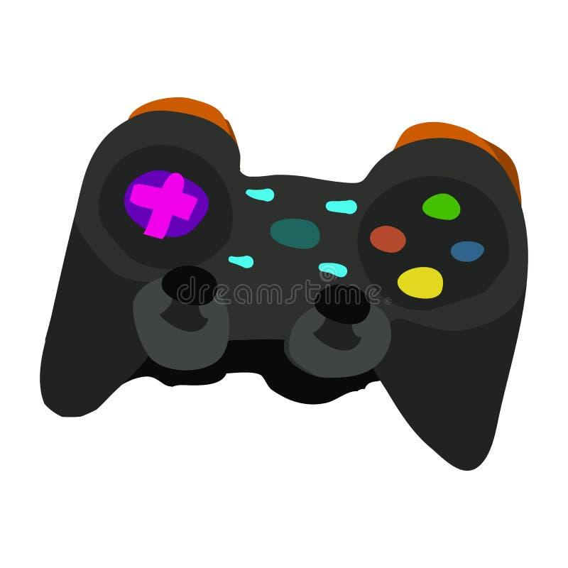 Vector cartoon flat Gamepad icon. stock illustration
