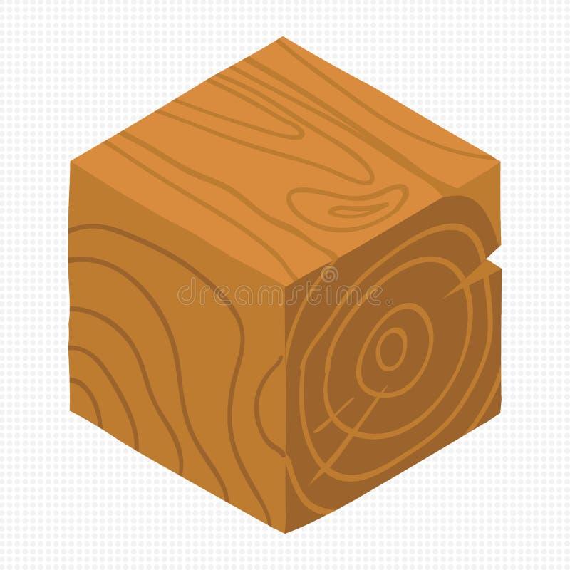 Vector cartoon flat isometric game brick cube. royalty free illustration