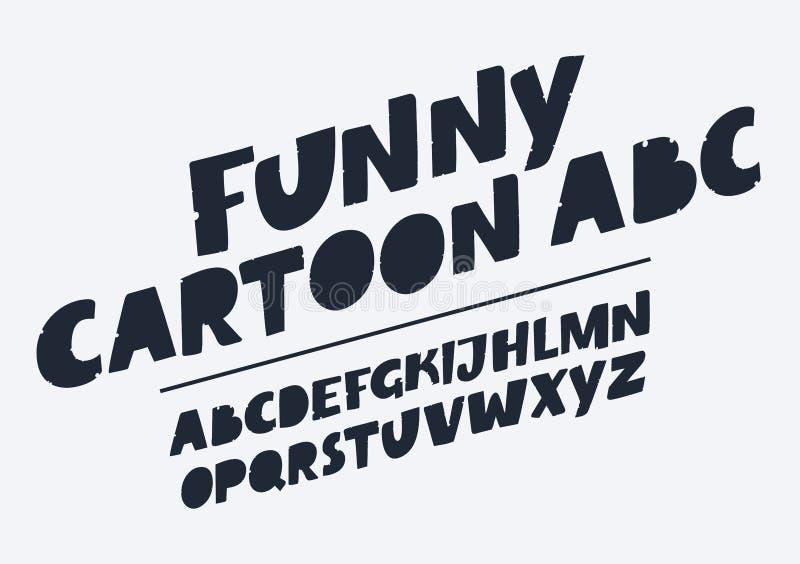Download Handmade Script Font Vector Comic Letters Funny Alphabet For Decoration Stock