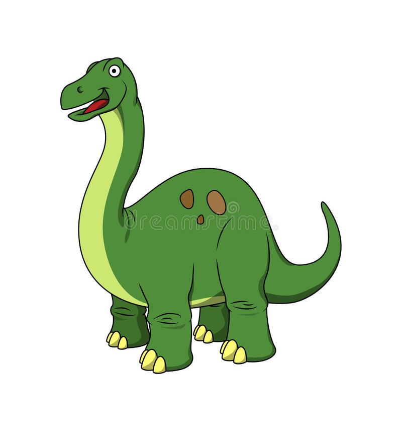 Vector cartoon - Happy Brachiosaurus royalty free stock photos