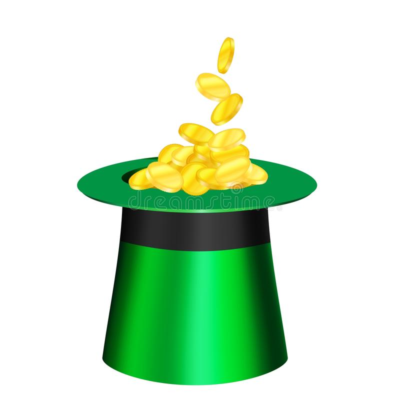 Vector cartoon hat for St. Patrick s Day. royalty free illustration