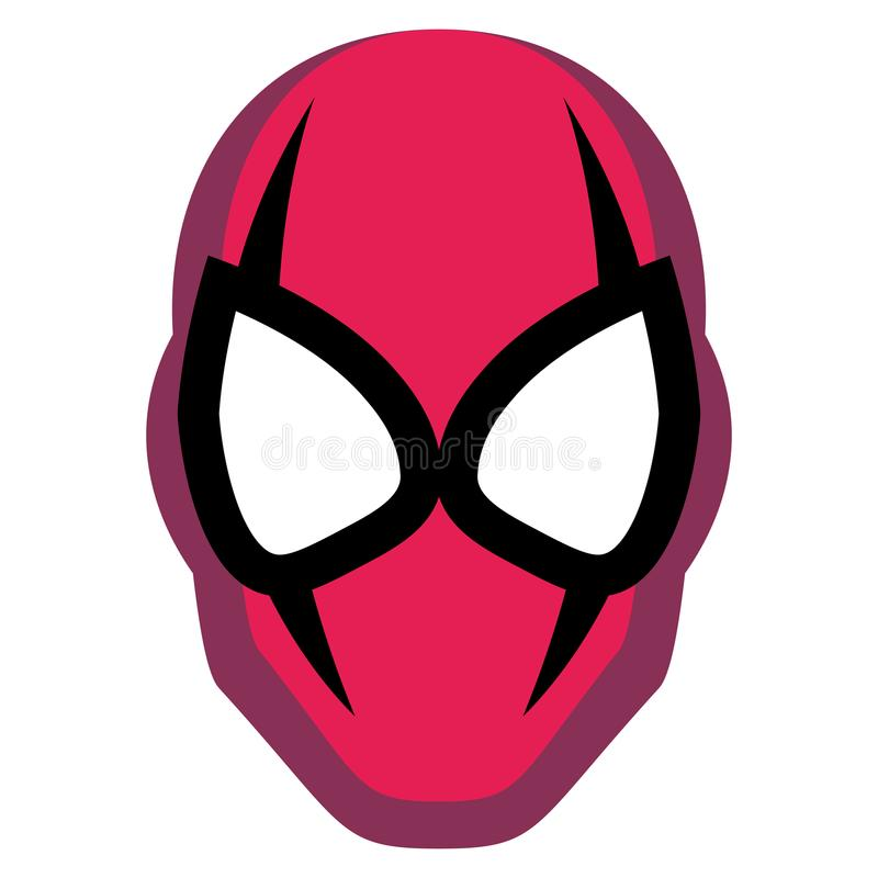 Cartoon Hero Mask Isolated On White Background. Vector Cartoon Hero Mask Isolated On White Background vector illustration