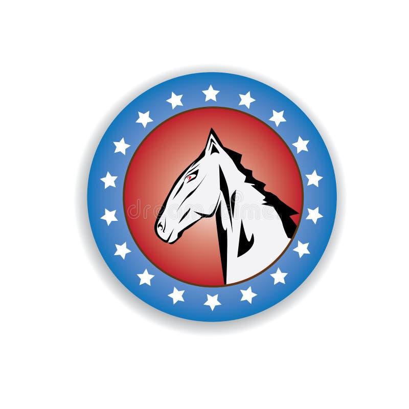 Download Vector cartoon horse head. stock vector. Image of farm - 35350598