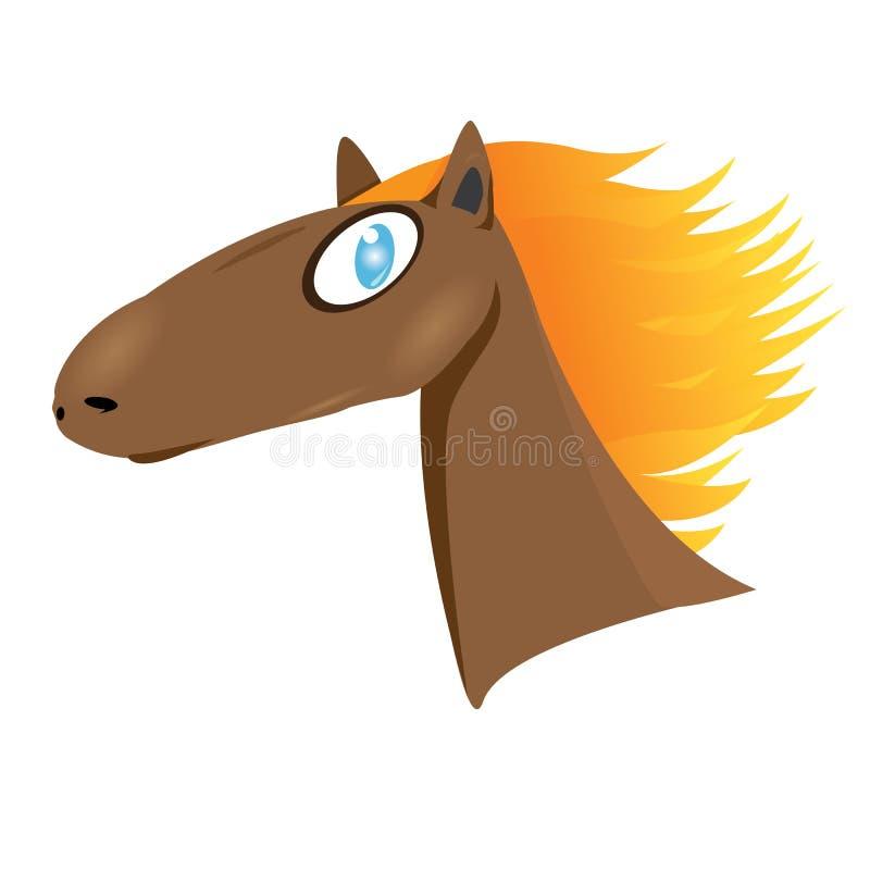 Download Vector cartoon horse head. stock vector. Image of icon - 35350665