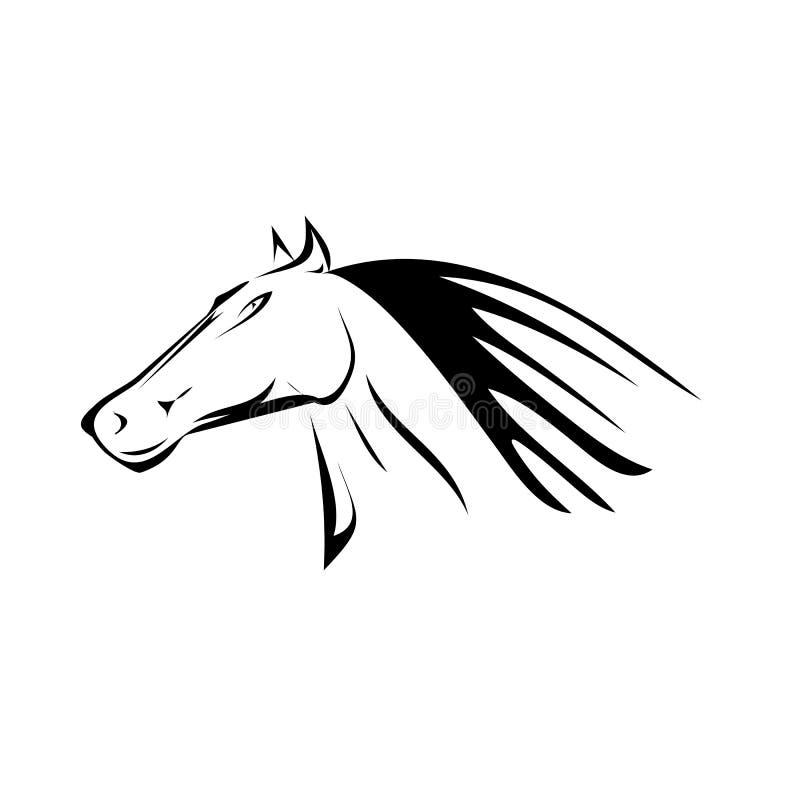 Download Vector cartoon horse head. stock vector. Image of horsehair - 35350698