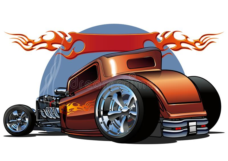 Vector cartoon hotrod. Cartoon hotrod 1930s. Available ai-10 format separated by groups for easy edit