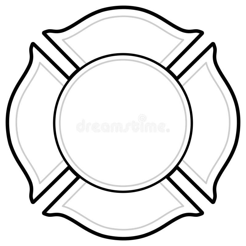 black and white firefighter logo stock vector
