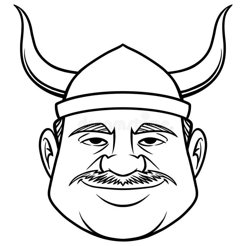 Download black and white viking dude stock vector illustration of vector people 112064465