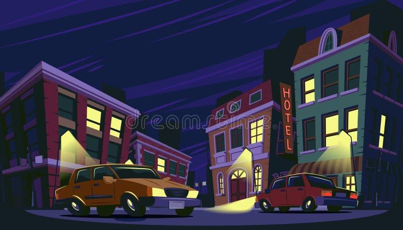 Vector cartoon illustration of the historic urban area royalty free illustration
