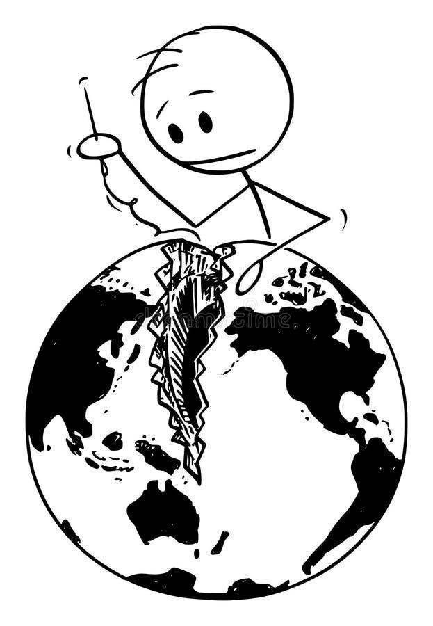Figure Globe Stick Stock Illustrations – 191 Figure Globe