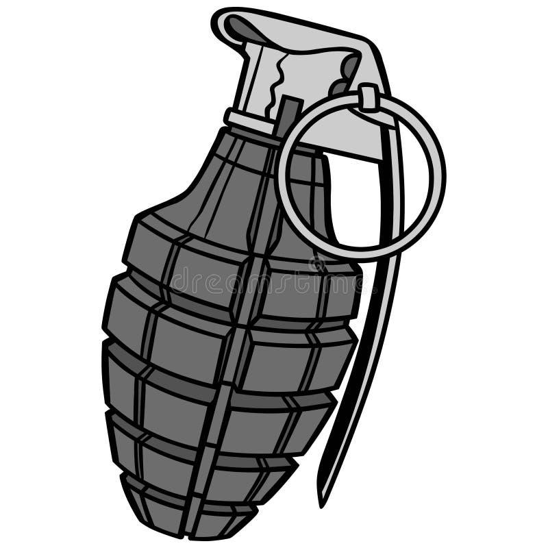 hand grenade illustration stock vector illustration of explosive rh dreamstime com grenade vector images grenade vector icon