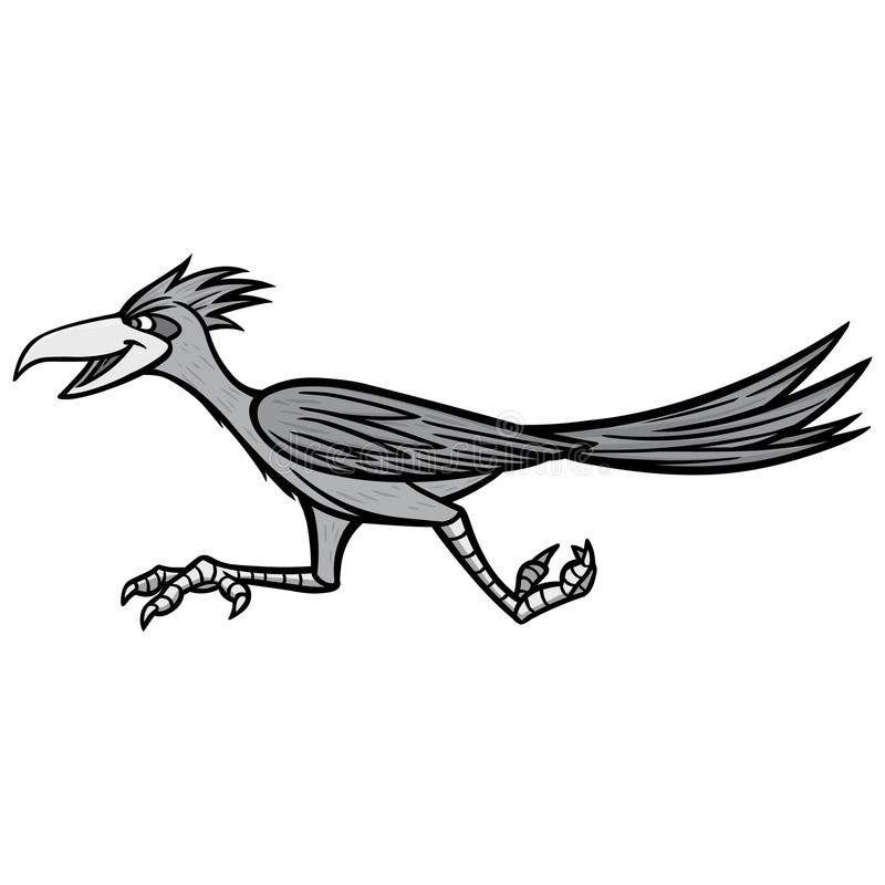Road Runner Illustration. A vector cartoon illustration of a Road Runner mascot vector illustration