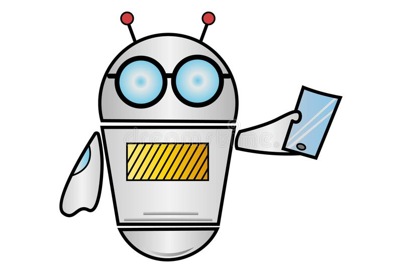 Vector Cartoon Illustration Of Robot royalty free illustration