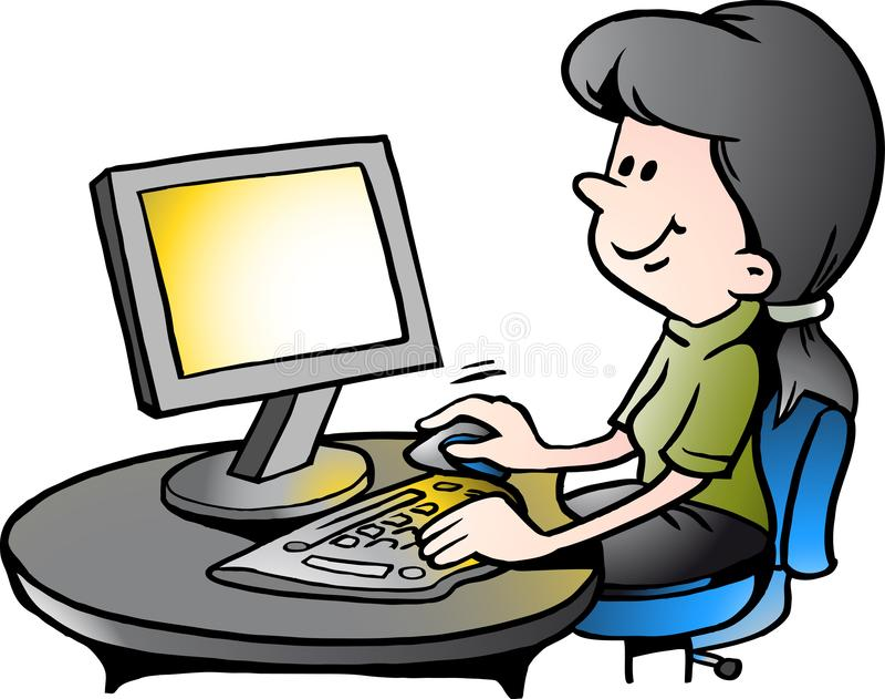 Cartoon Secretary Stock Illustrations – 10,978 Cartoon ...