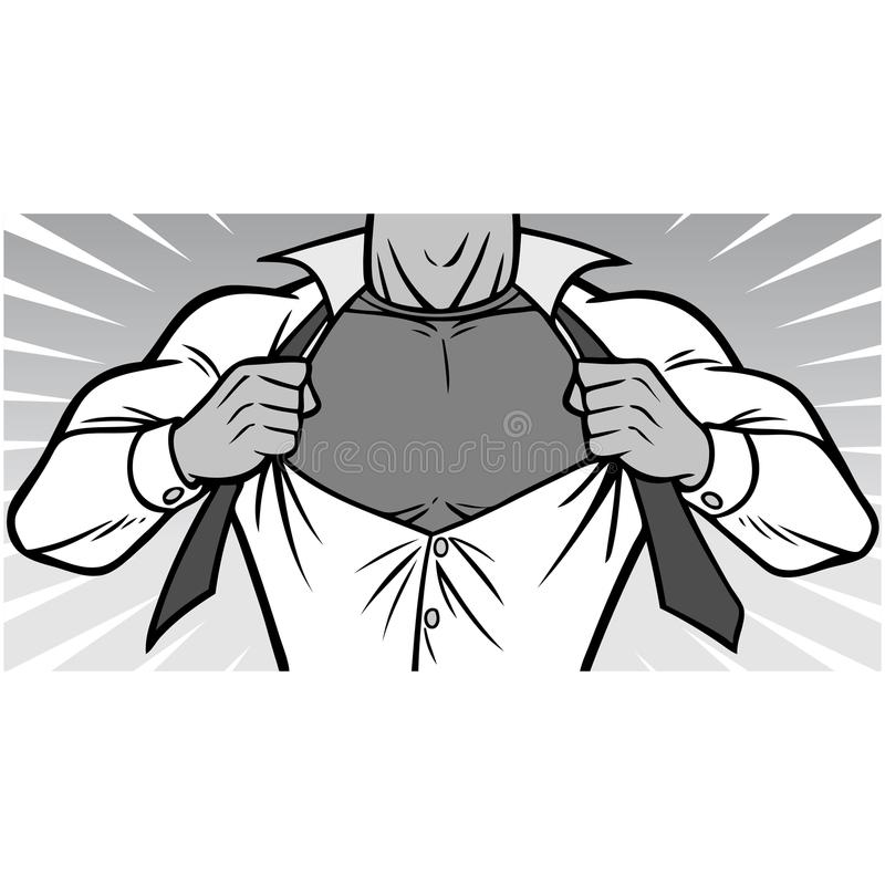 superhero chest illustration stock vector illustration of