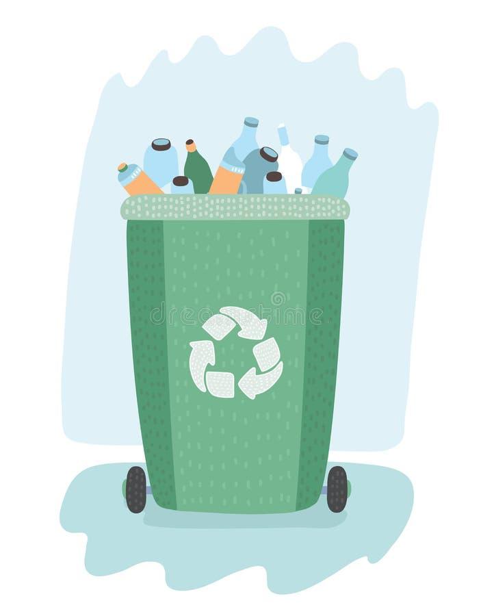 Waste management concept. royalty free illustration