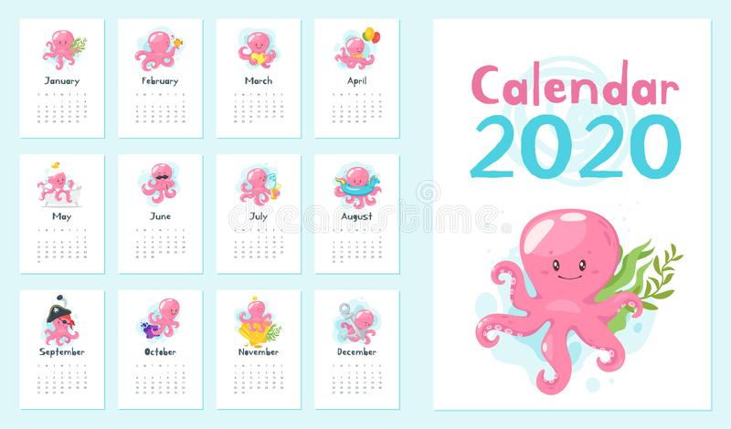 2020 calendar page. royalty free stock images