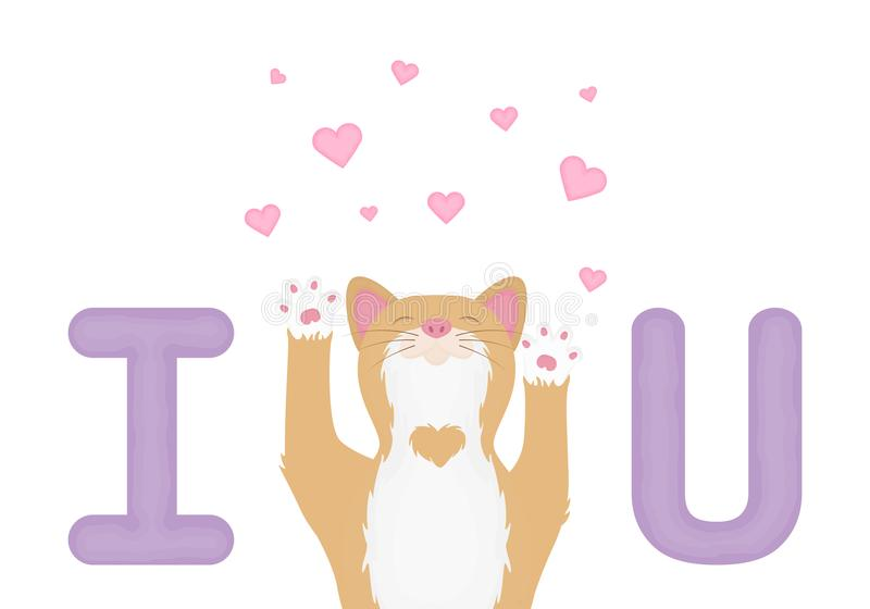 Vector of cartoon images of cute different cat with different action. Pet. Valentine vector illustration