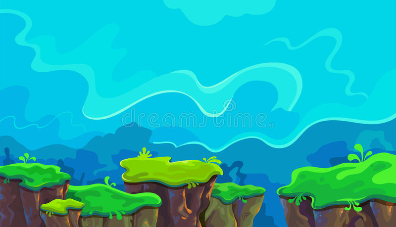 Vector cartoon landscape stock image