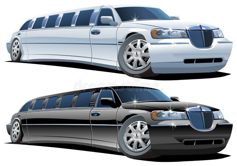 Vector cartoon limousines royalty free illustration