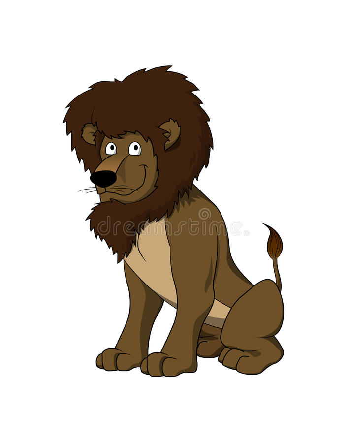 Vector cartoon - Lion character stock image