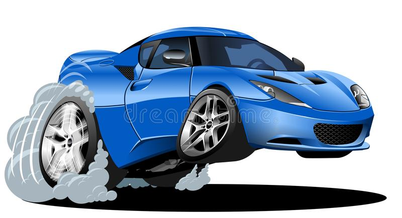Vector cartoon modern car vector illustration