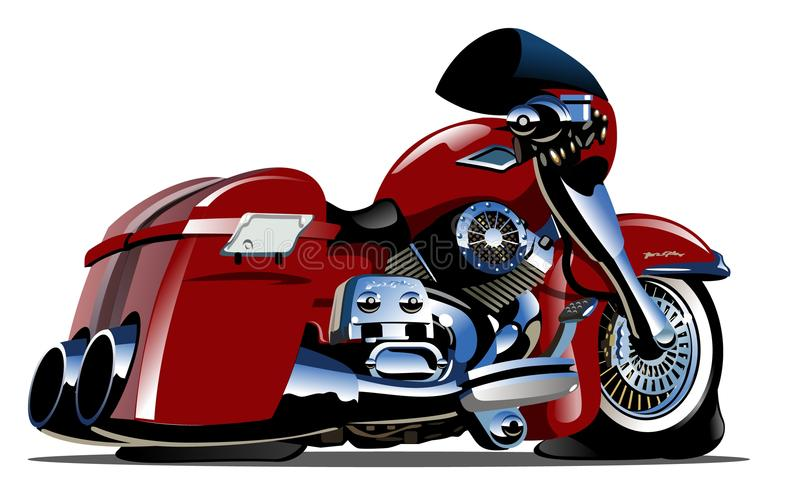 Vector Cartoon Motorbike vector illustration