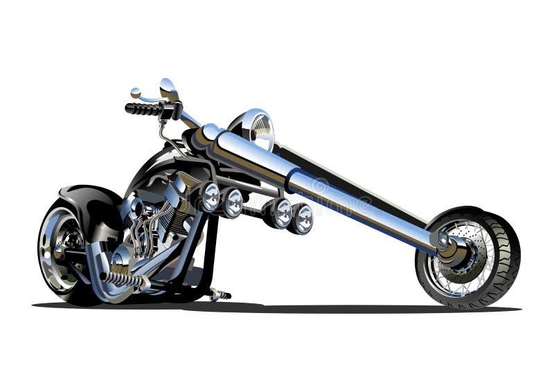 Vector Cartoon Motorbike royalty free illustration