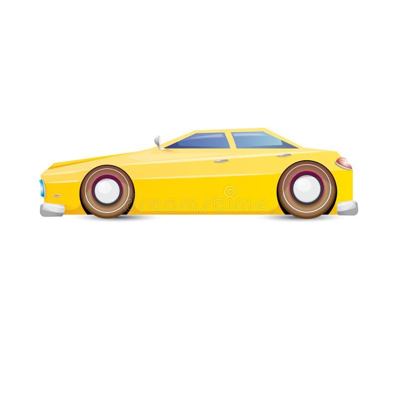 vector cartoon orange car on white stock vector image. Black Bedroom Furniture Sets. Home Design Ideas