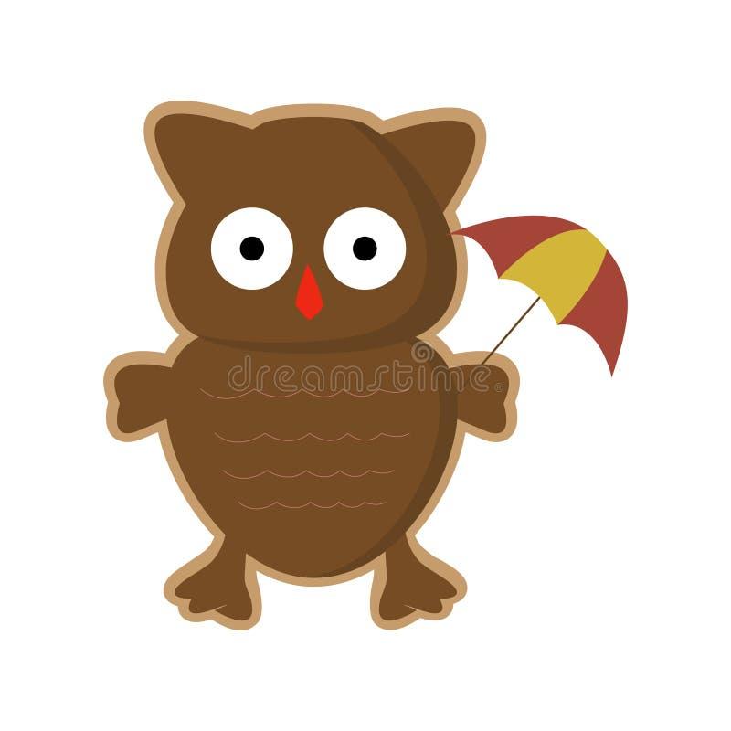Vector Cartoon owl stock photography