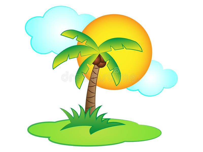 Download Vector Cartoon Palm Tree Stock Illustration Of Holiday