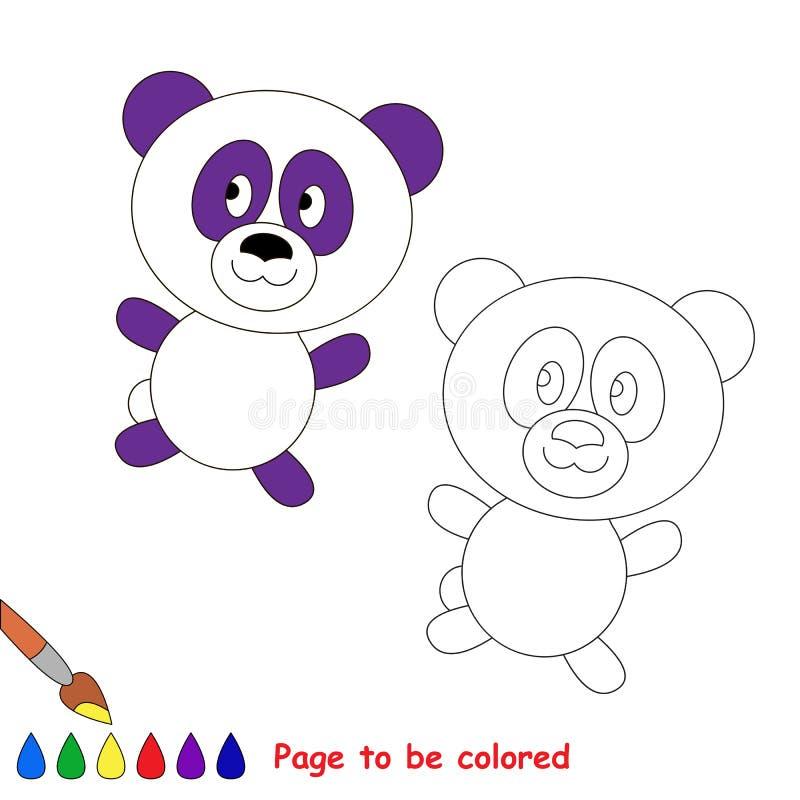 Vector cartoon panda to be colored. vector illustration