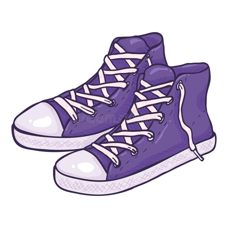 Vector Cartoon Purple Gumshoes royalty free stock photos