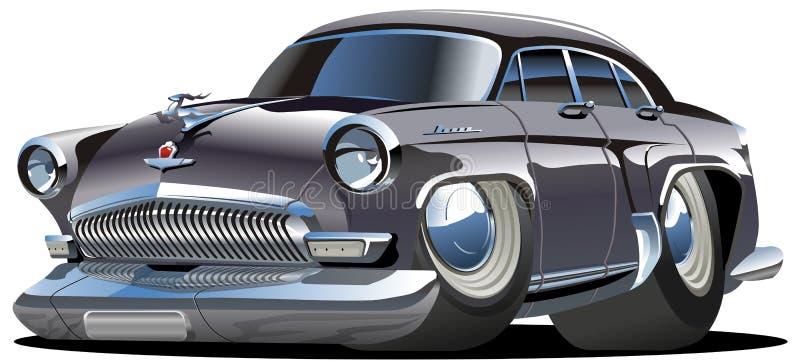 Vector cartoon retro car vector illustration