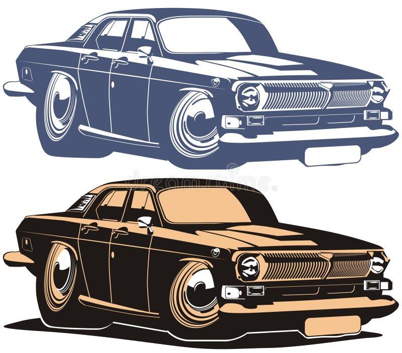 Download Vector Cartoon Retro Muscle Car Stock Vector - Image: 7132198