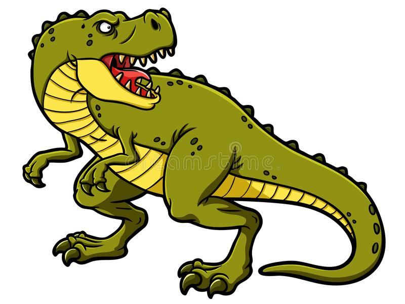 Vector Cartoon Roaring Tyrannosaurus Rex stock illustration