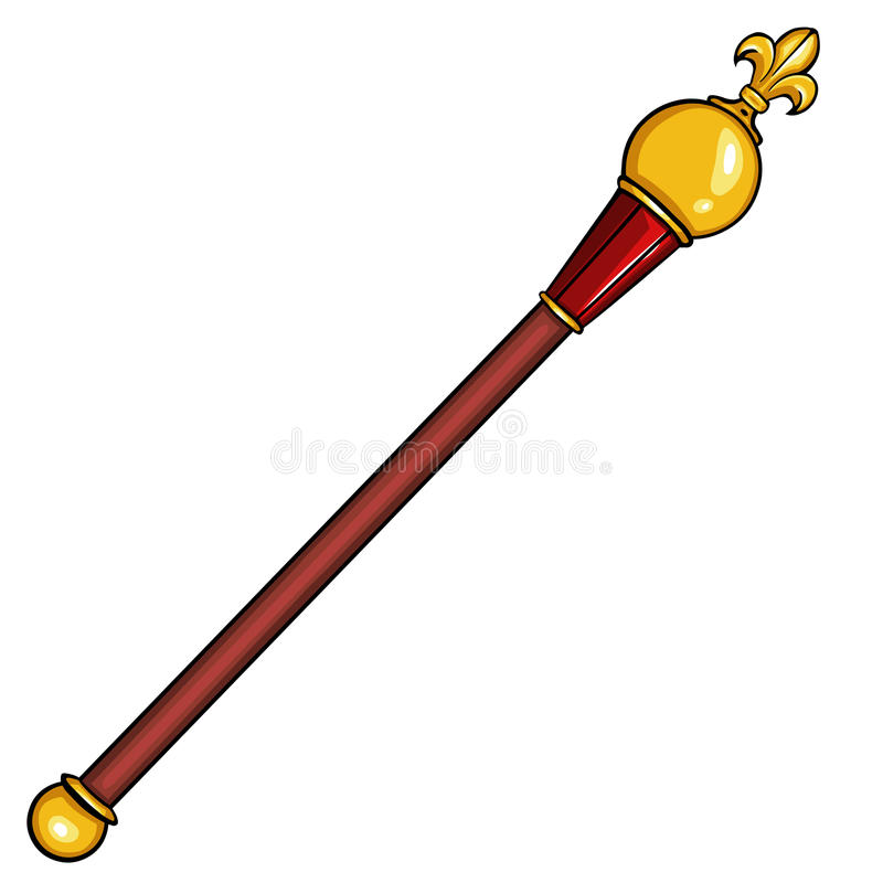 Vector cartoon royal scepter stock photography