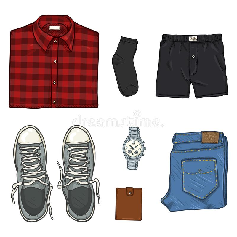 Free Vector Cartoon Set Of Men Clothes Stock Photography - 161369502