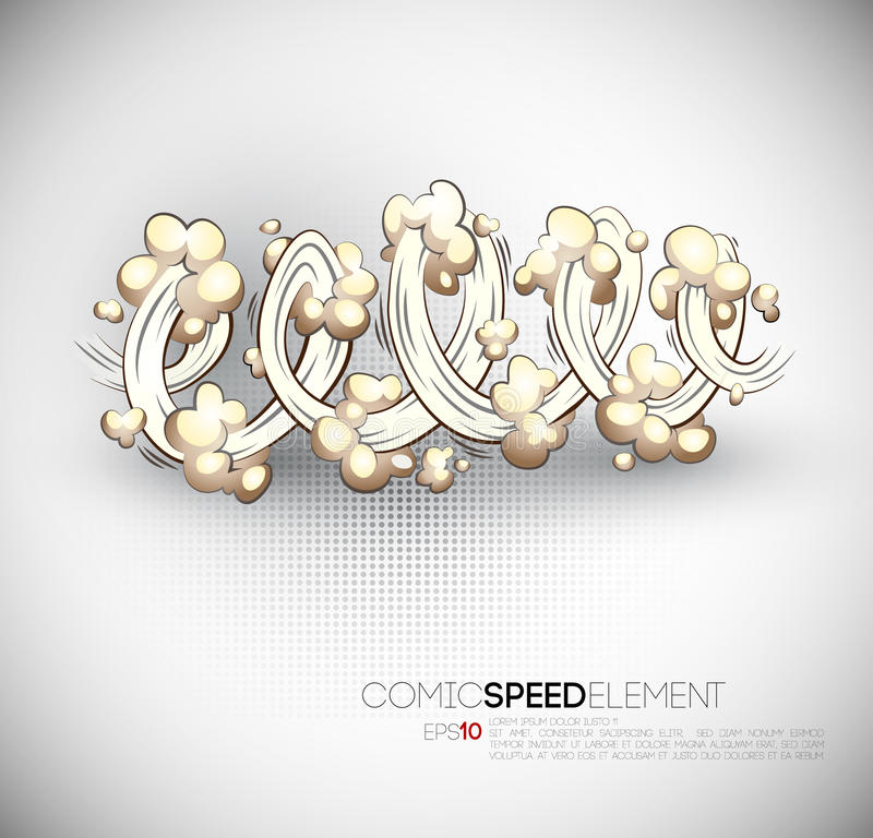 Vector Cartoon Speed Burst royalty free illustration