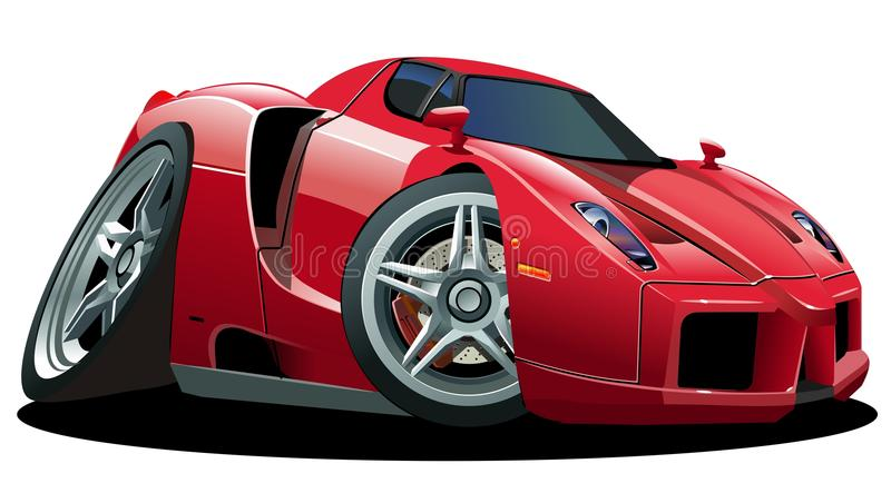 Vector cartoon sportcar vector illustration