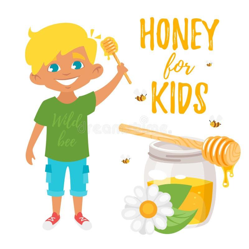 Honey for kids illustration vector illustration