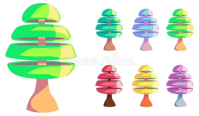 Vector Cartoon style Tree royalty free stock photos