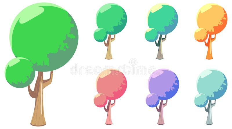 Vector Cartoon style Tree royalty free stock photography