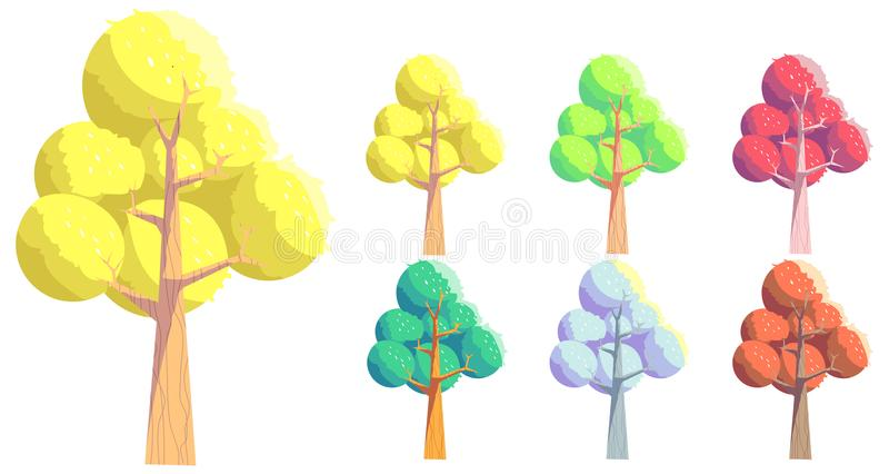 Vector Cartoon style Tree stock photos